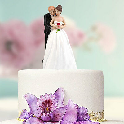 Synthetic Resin Bride&Groom Cake Topper Wedding Party Decoration Craft Gift