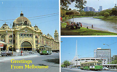 AUSTRALIA postcard Greetings from MELBOURNE