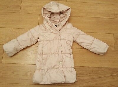 Girls GAP Hooded Padded cream Coat Size 5 Years