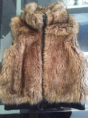 Girls H And M Fur Gilet