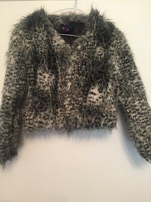M And S Limited Collection Girls Fur Coat Age 9-10