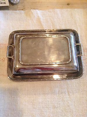 Superb Twin Handled Silver Plated Entree/serving Dish & Cover  -  Harrods London