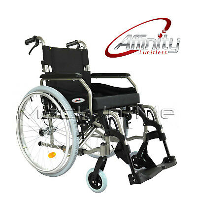"Affinity® Wheelchair Folding Aluminium Manual 24"" wheels Pneumatic Brakes Alloy"