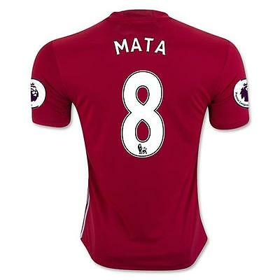 Manchester United 8 MATA Home Red Soccer Jersey Sz:L
