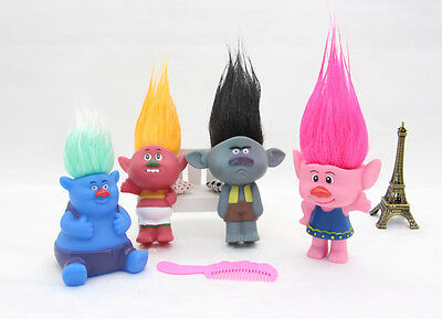 Troll Doll Toys Movie Cute Collectable- Choose One - Pink Blue Mustard Black