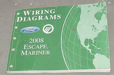 2008 Ford Escape Mariner Wiring Diagrams Service Manual EVTM