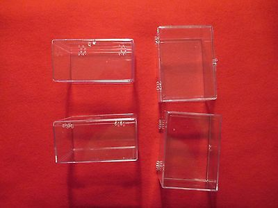 38 Hinged Plastic Baseball Card Protector Boxes - Holds 100 Cards Each