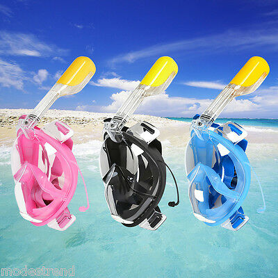 New Breath Full Face Mask Surface Diving Snorkel Scuba for GoPro Swim Tools UK