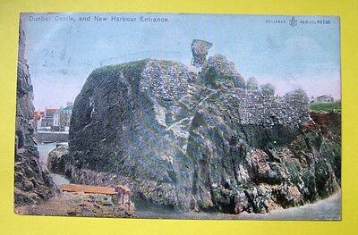 Dunbar Castle and New Harbour Entrance (WR & S, Reliable Series)   -  c1905