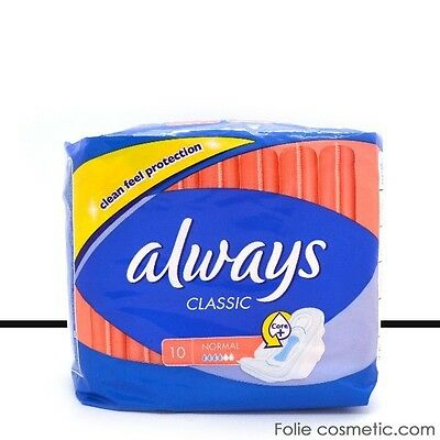 Always Classic - 10 Serviettes Hygiéniques - Normal