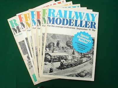 Railway Modeller from  1971, 1972, 1975 vintage pack of 7 issues