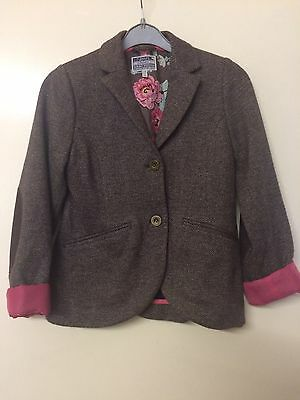 JOULESDesigner  Girls Brown Tweed Jacket aged 9/10Yrs