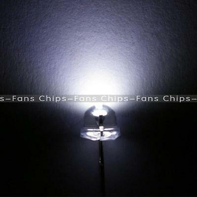 New 100 pcs 5mm Straw hat Warm White LED Wide Angle Light lamp Free Shipping