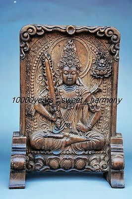 Superior quality Chinese stone hand carved Guanyin Bodhisattva screen