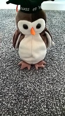 TY Beanie Babies Wise the Owl
