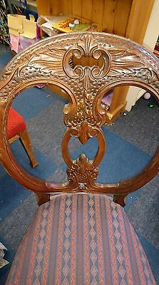 Balloon Chair Chairs Mahogany Wood Sprung Seat Antique Chair Shabby Chic
