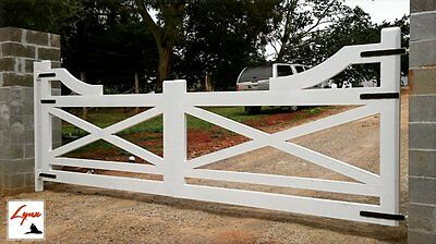 Steel Gates Double Swing, Country, Driveway, Farm, Entrance Gate