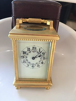 Stunning Cased Striking Repeating Carriage Clock with Case and Key