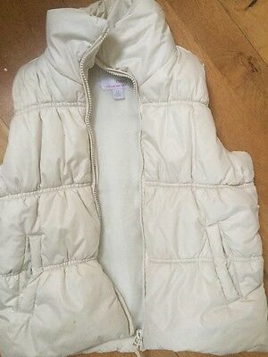 Next Body Warmer Age 7-8 In Cream