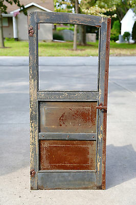 Vitnage Horse Drawn Stagecoach Carriage Antique Old Wood Door W/ Handle & Latch