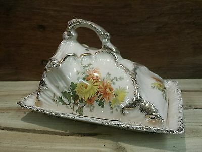Vintage Floral Pattern Cheese Dish/ Butter Dish