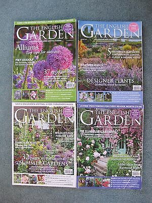 Bundle of 4 The English Garden Magazines - full of beautiful pictures 2013