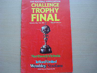 NORTHWICH VICTORIA V TELFORD UNITED MAY 1983 (Challenge Trophy Final)