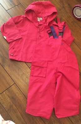 Girls Togs Wellie Weather Rain Coat Dungarees Puddle Suit Age 18-24 Months