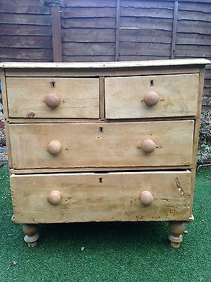 Lovely Small/Medium Antique Pine Chest Of Drawers