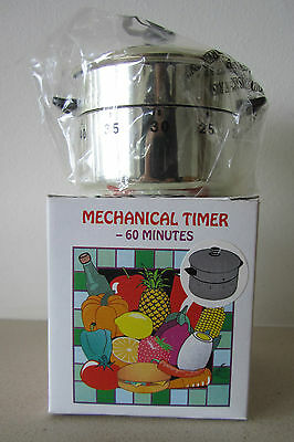 Novelty 60 minute kitchen timer - saucepan with lid. Brand New