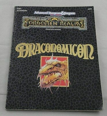Advanced Dungeons & Dragons Forgotten Realms:  Draconomicon FOR1 TSR9297