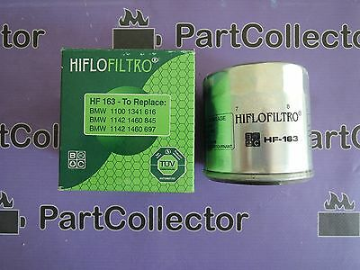 HifloFiltro OE Quality Replacement Oil Filter HF163 2004 BMW K1200GT