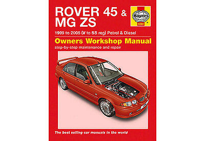 ***  Haynes Workshop Manual ***  Rover 45 & Mg Zs 1999 To 2005  ***