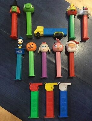 PEZ Sweet Dispensers Some Vintage Including Lorry Whistles Dinosaur,Santa Joblot