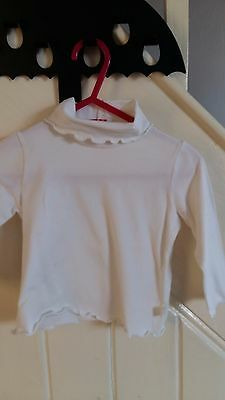 Il gufo Polo Neck Top Age 12 mths White