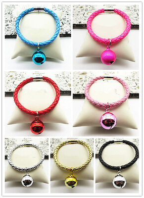 Soft Leather Collar Bell Pet Dog Puppy Cat Kitten Cute Loud Bell Free delivery