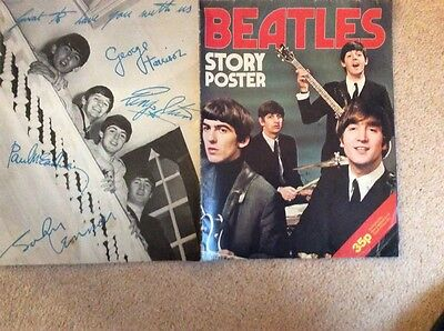 Beatles story poster 1970's