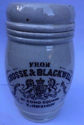 Stunning Crosse & Blackwell 21 Soho Square London Printed  Crock Pot And Lid