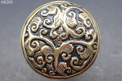 Stunning Medieval Bronze Ring with Filigree Flower Design #285