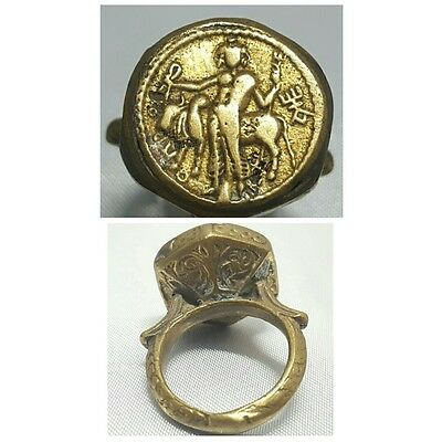Old Rare wonderful Bronze Unique Ring # D
