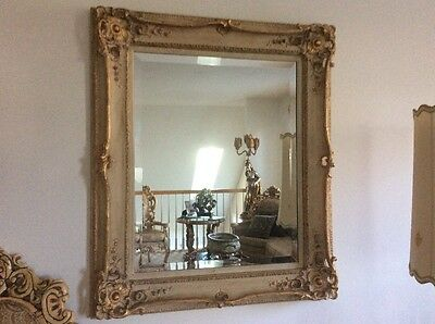 French Provincial Bevelled Mirror Vintage 38 by 34