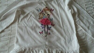 Pretty girls long sleeve top age 5-6 years Marks and Spencer