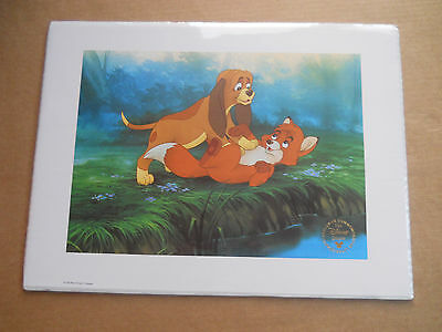 Disney Store Exclusive Commemorative Lithograph The Fox and The Hound BNIP