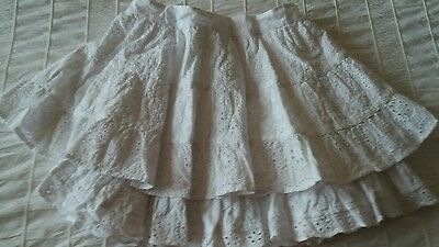 Pretty girls white layered skirt, age 4-5 years, Marks and Spencer