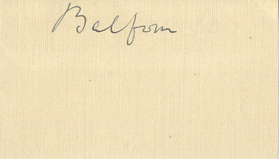 Lord Balfour ' British Prime Minister ' Hand Signed Free Front.