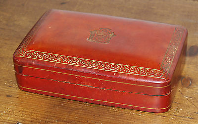 Rare Glenfiddich Whisky   Italian Red Leather presentation Trinket Box