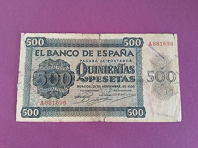 Billete 500 Pesetas Burgos 1936