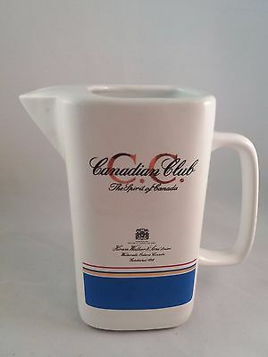 Whisky water jug by Canadian Club