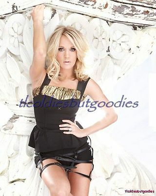 Carrie Underwood Black Gold Top Beautiful Blonde Country Singer Photo #_0257
