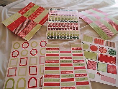 A4 Paper and Greetings Toppers for Cardmaking - reds/greens